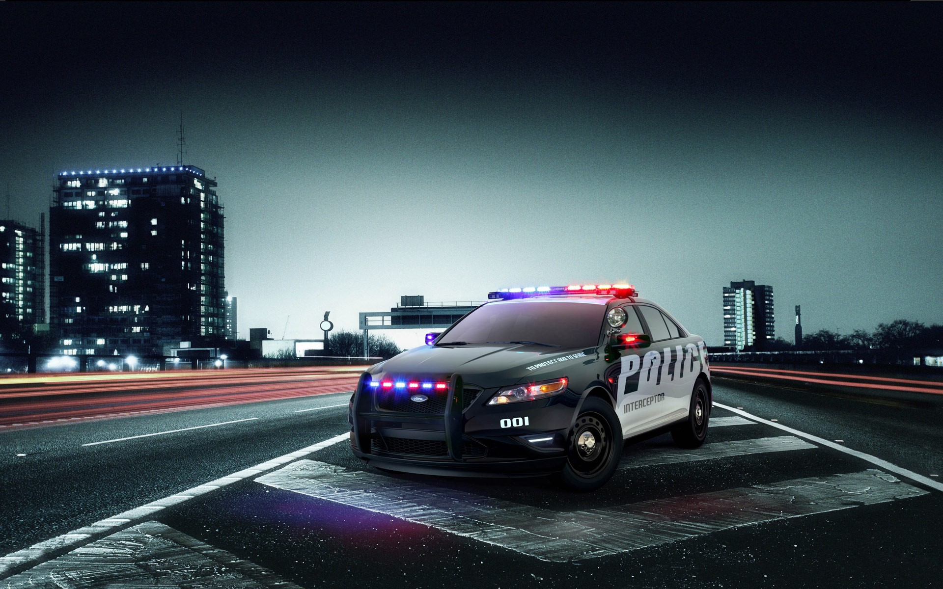 ford interceptor police дорога