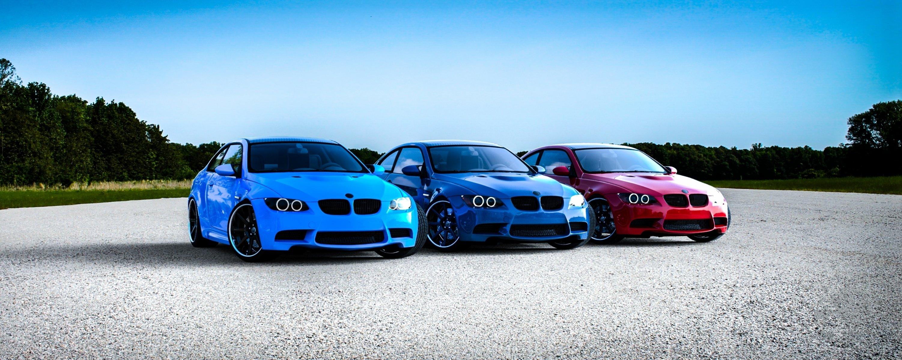 синий автомобиль BMW E92 M3 скачать