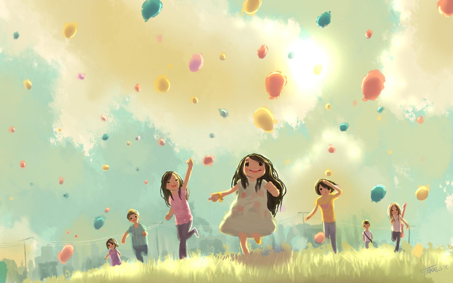 Обои подарок, Поздравление, Девочка, мальчик, дети. Настроения foto 8