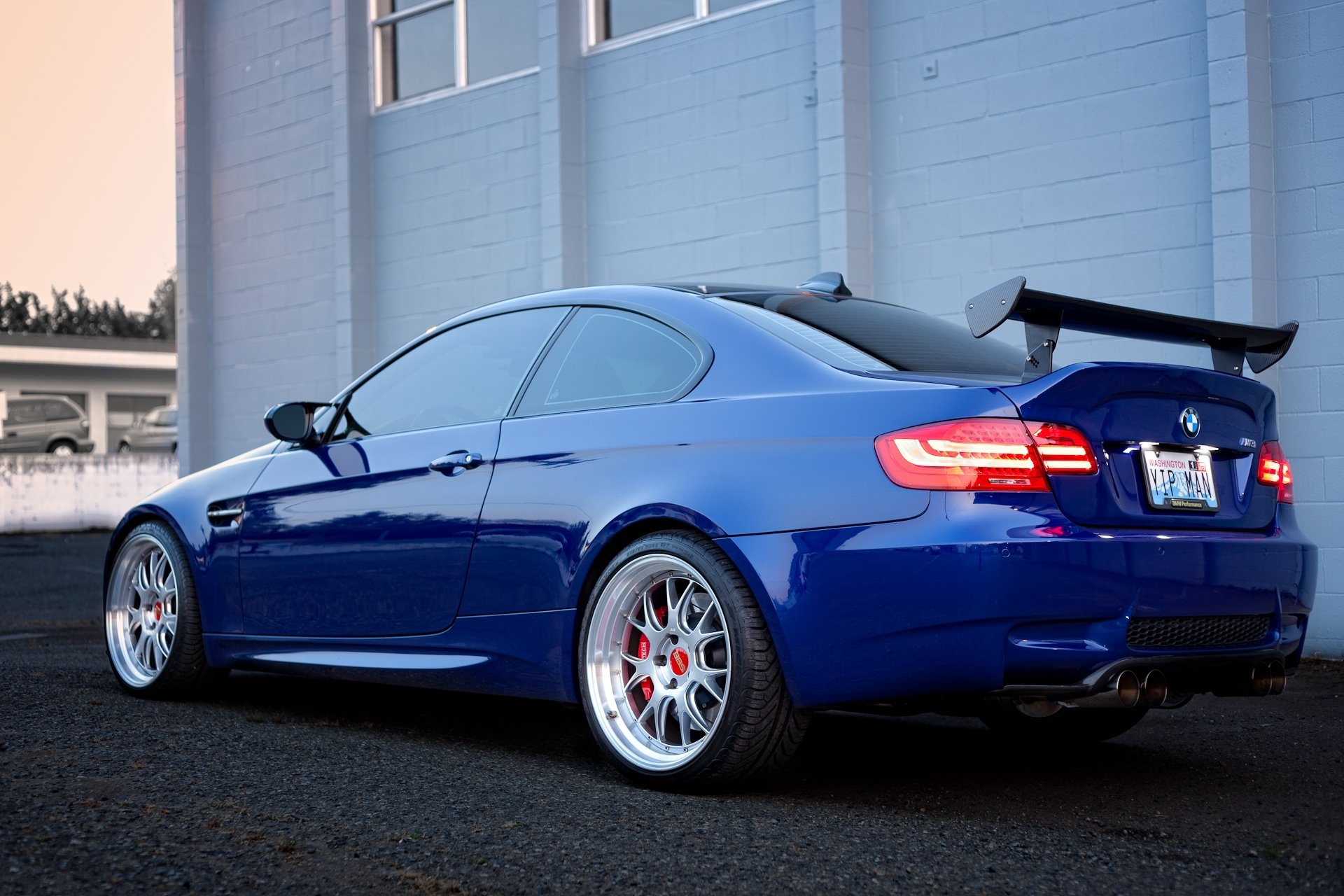 Обои Облака, синий, blue, Bmw, M3, задок. Автомобили foto 14