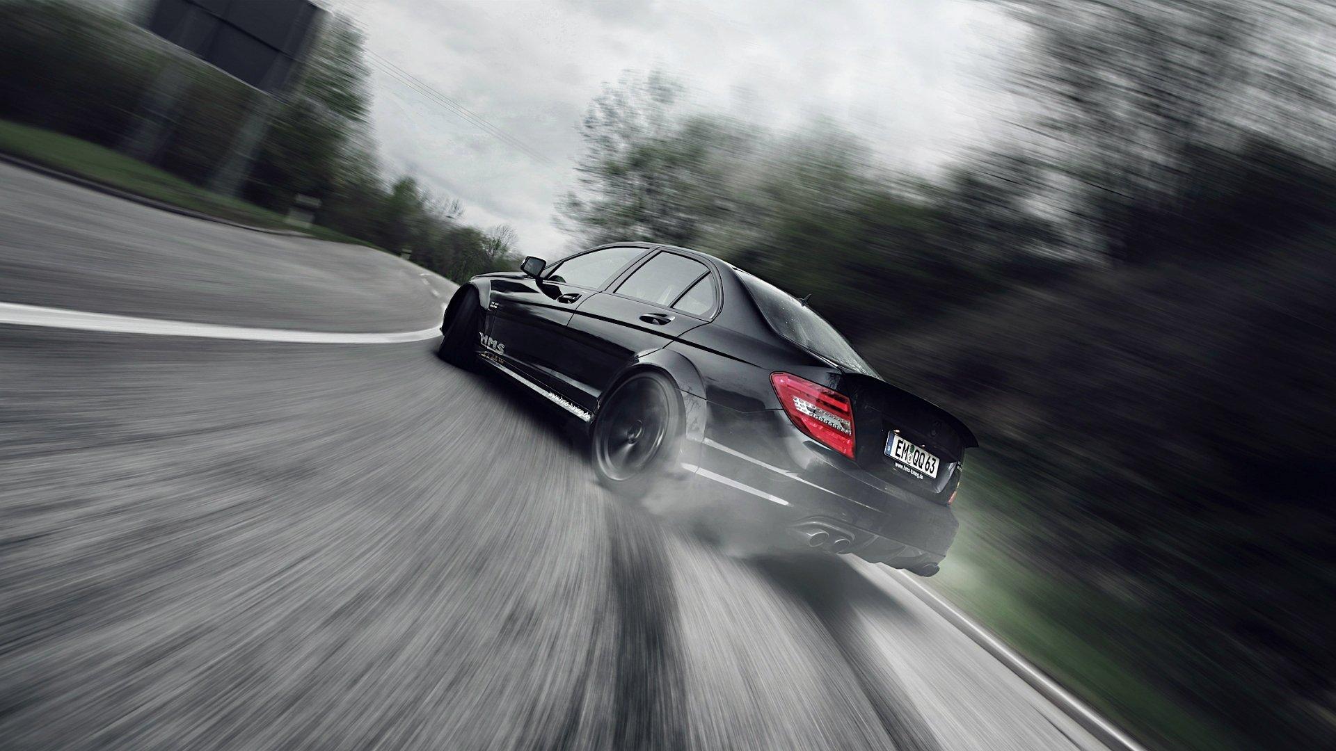 Mercedes-Benz E-Class белый дорога прожектор смотреть