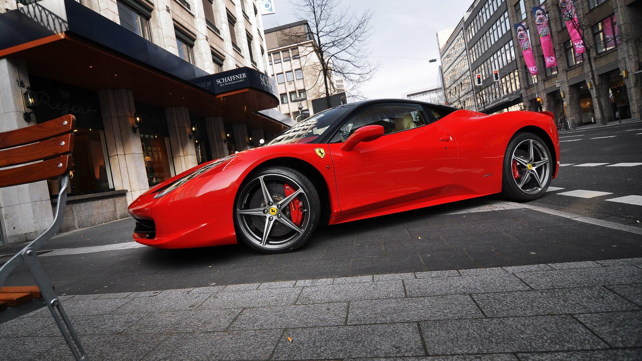 Обои Феррари, Ferrari 458 italia, улица. Автомобили foto 8