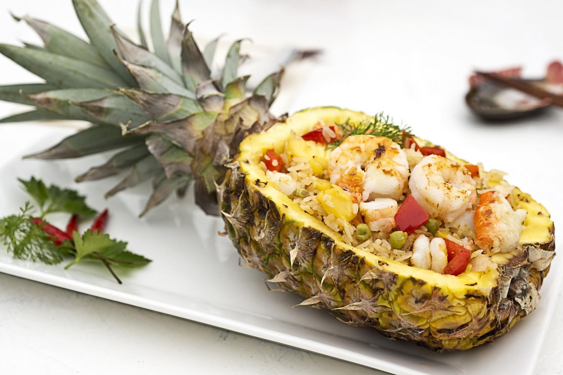 салаты в картинках ананас цвет