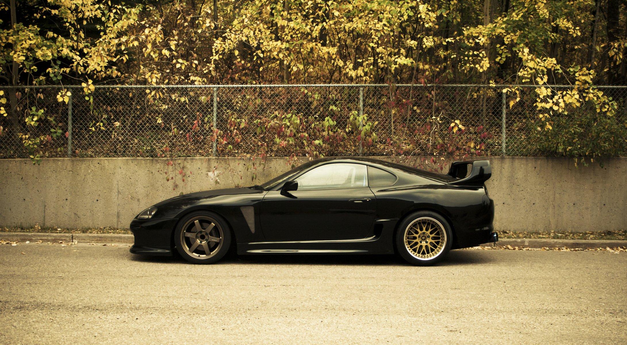 черный автомобиль toyota supra black car бесплатно