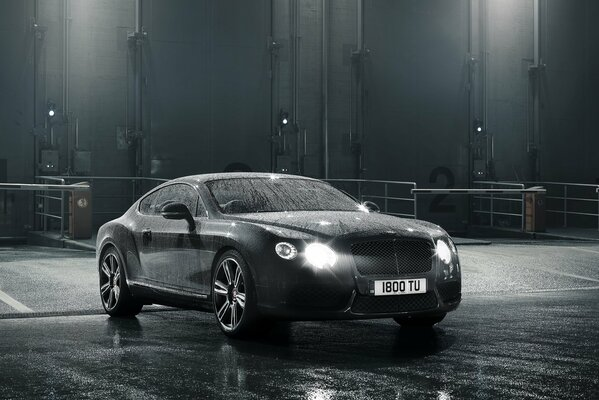 2012 bentley continental gt v8 машина вода свет автомобиль 2156x1616