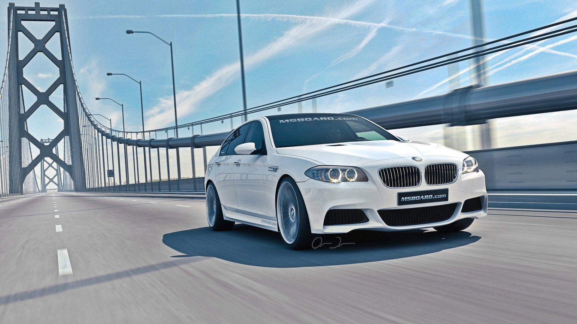 белый автомобиль bmw m5 f10  № 847825 без смс