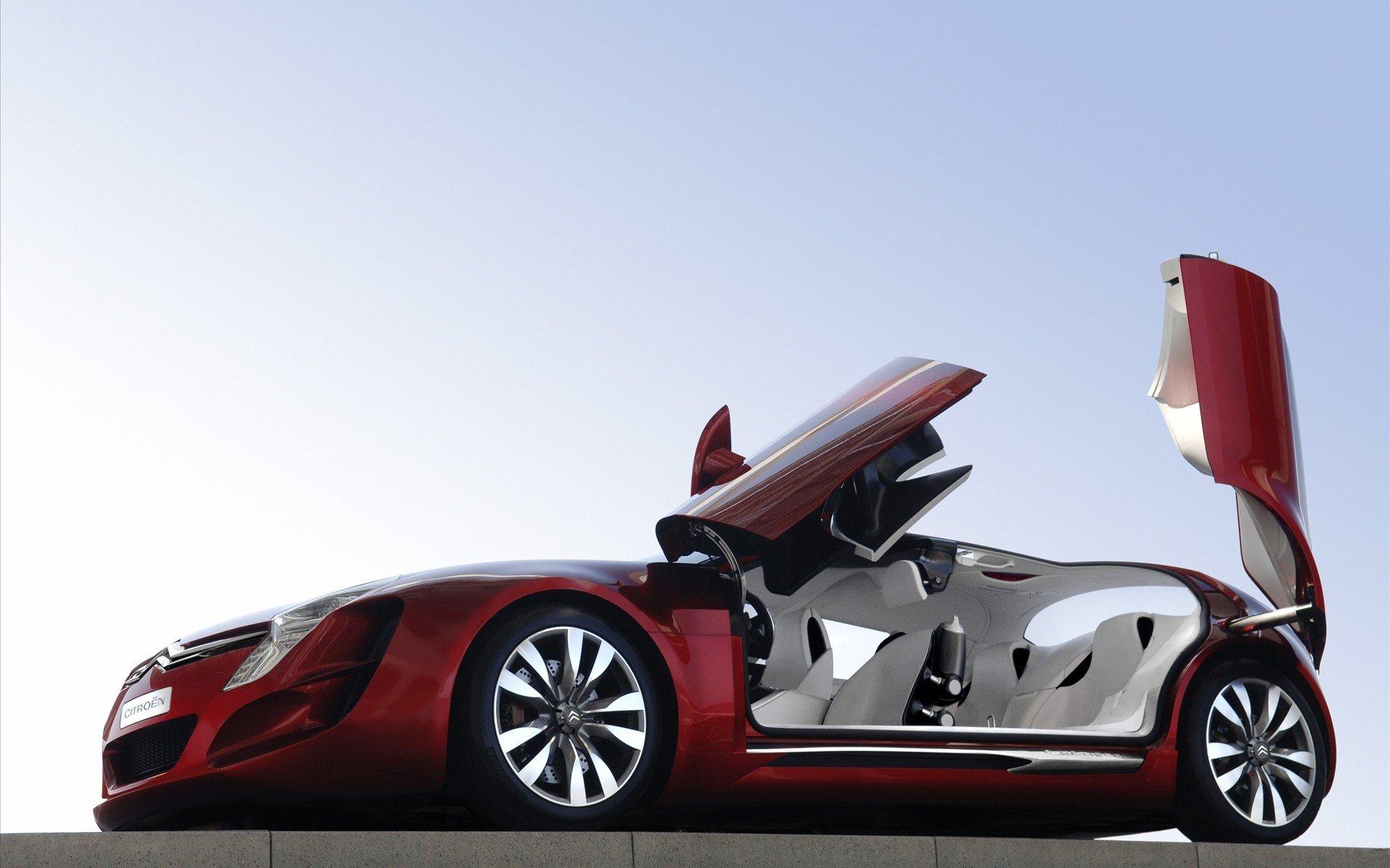 белый спортивный автомобиль citroen white sports car загрузить