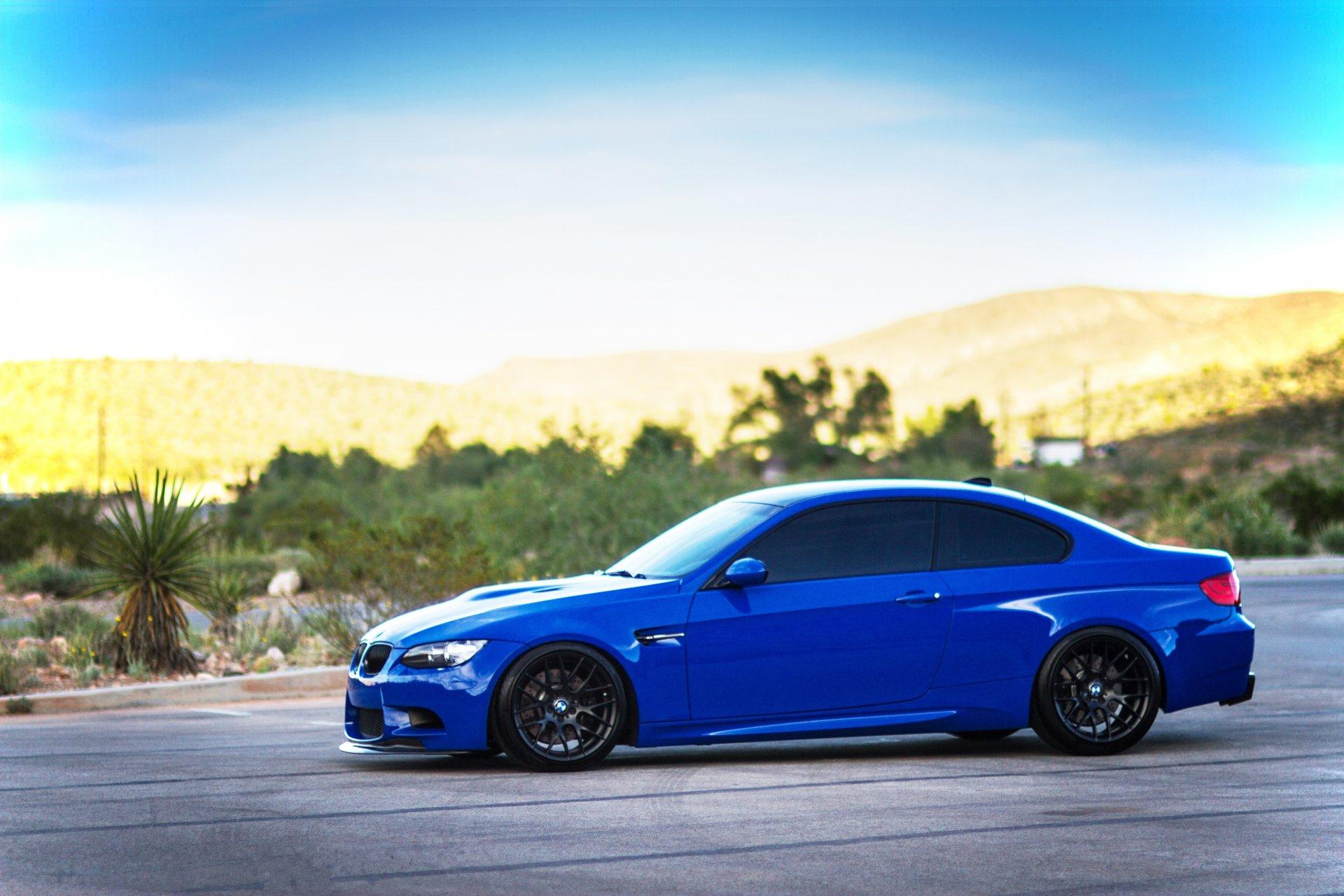 Обои Облака, синий, blue, Bmw, M3, задок. Автомобили foto 7