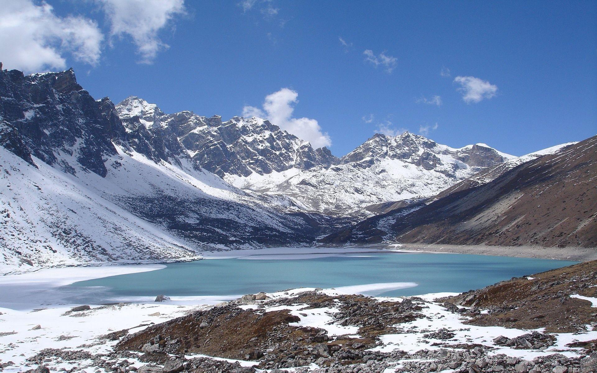 горы озеро снег зима загрузить