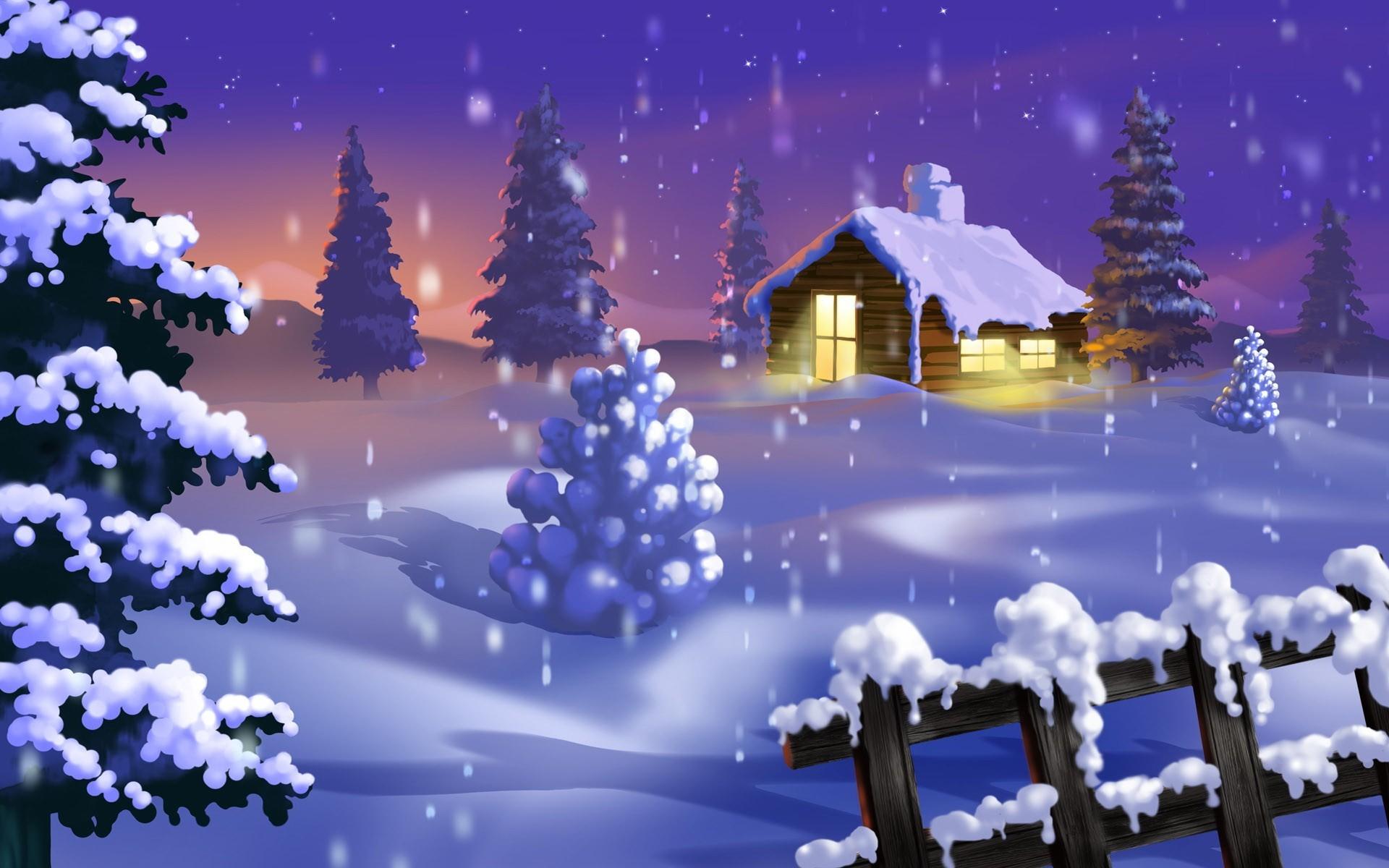 Обои зима анимация, почте мобильные