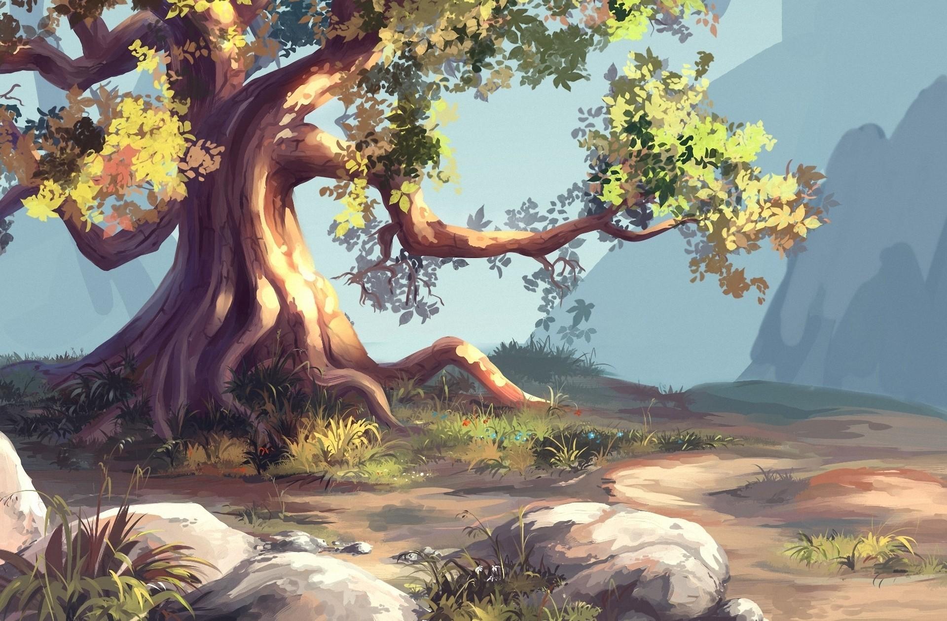 фотографии, картинка большого дерева в рисунках тсж дачного поселка