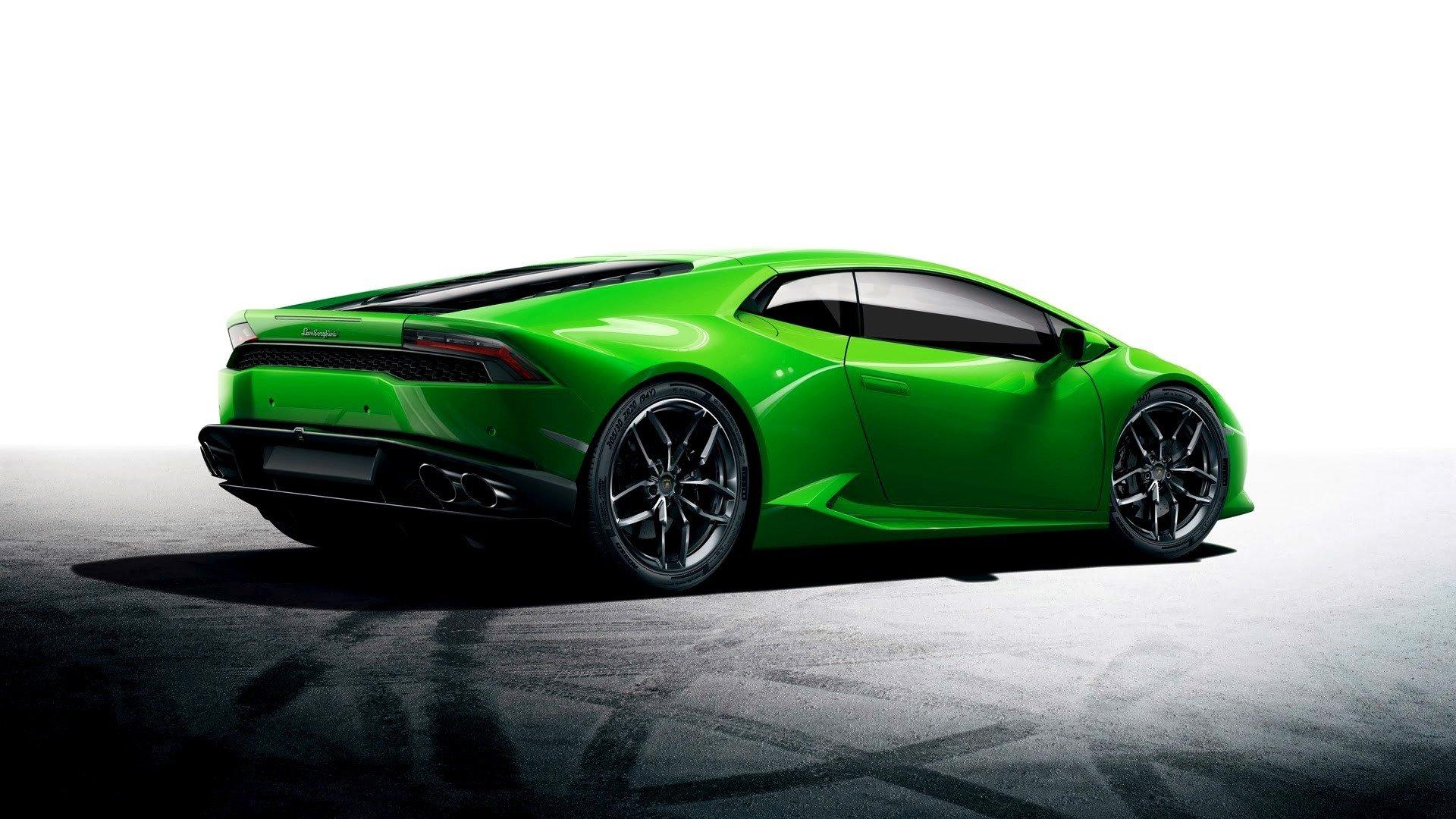 спортивный зеленый автомобиль Lamborghini  № 2996297 загрузить