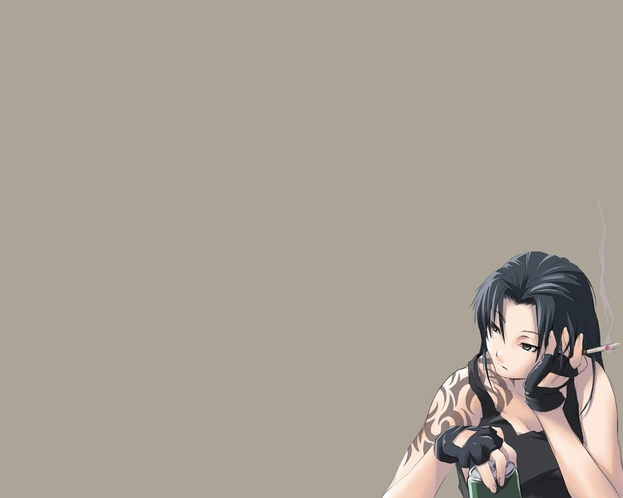 black lagoon revy smoking