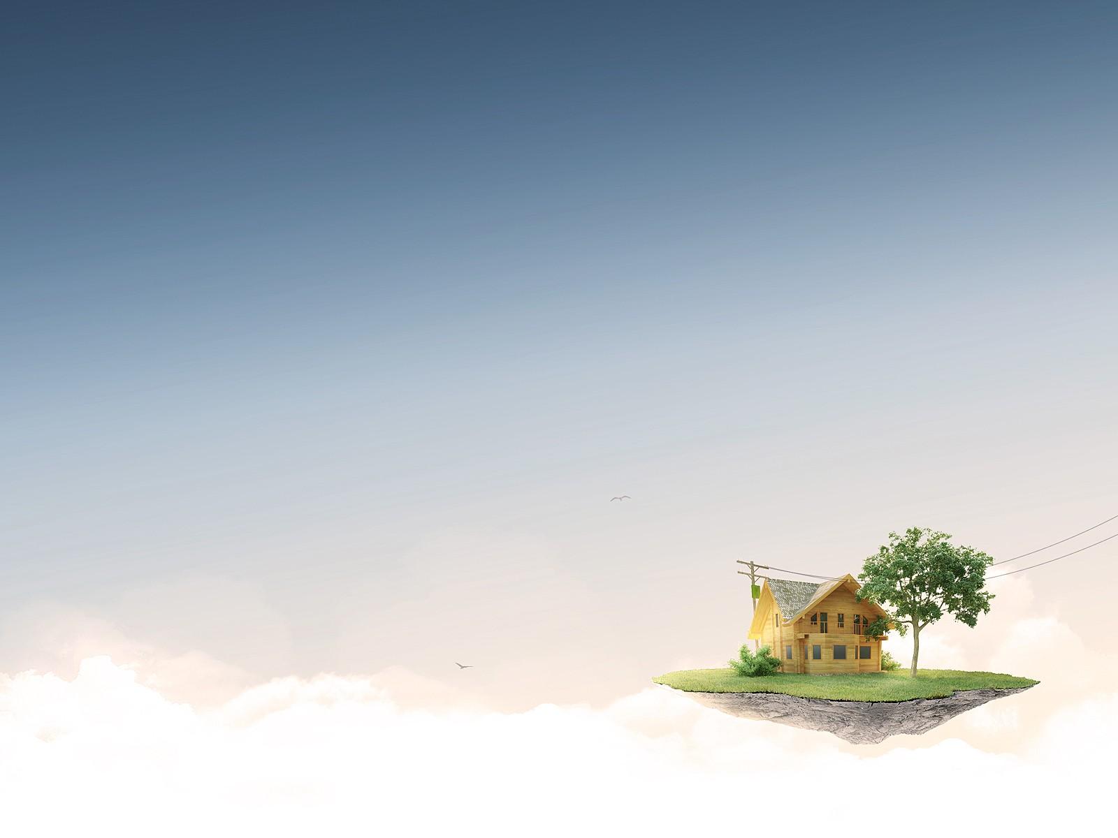 Дом на облаках картинка