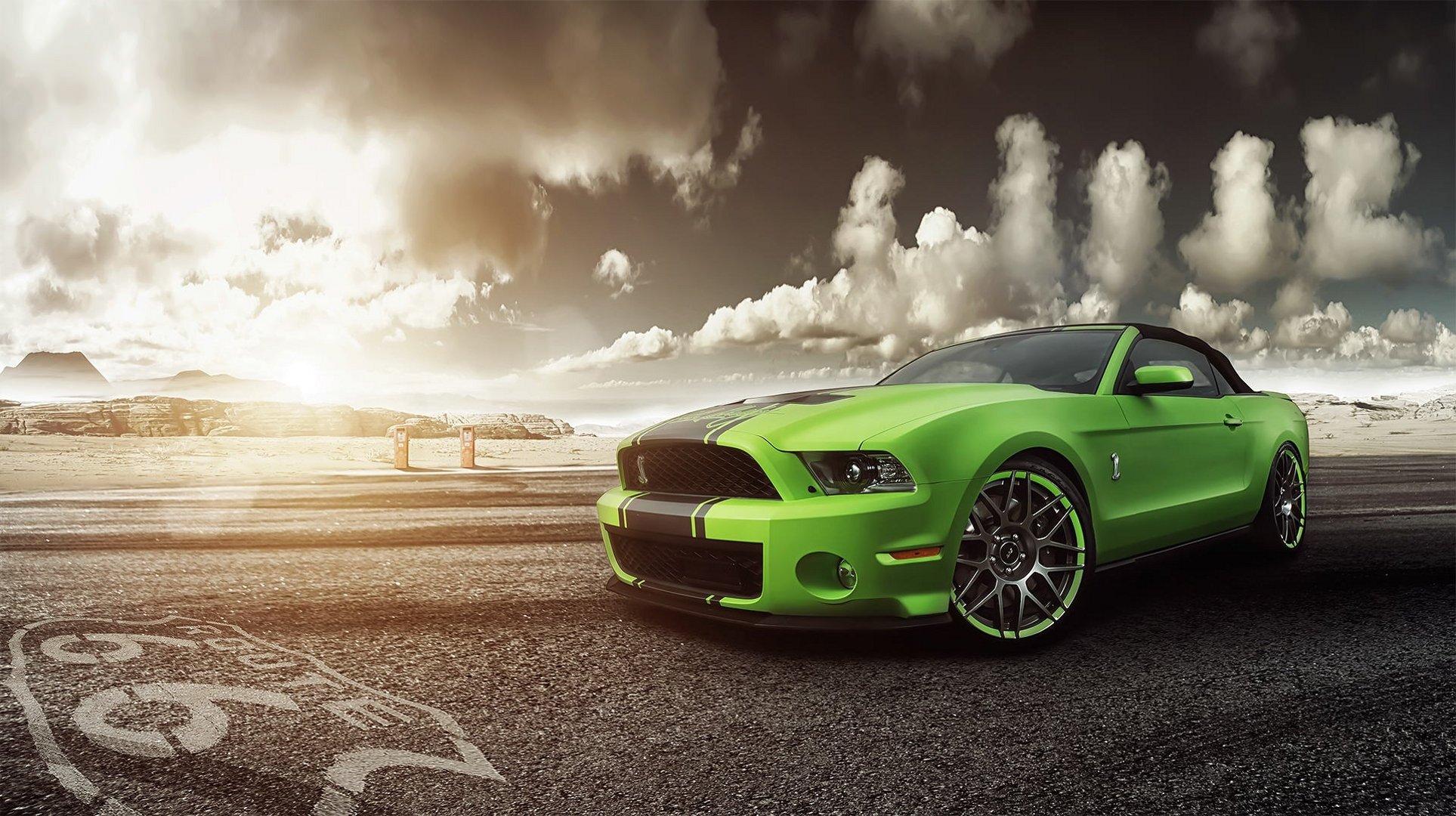 Ford Mustang дорога небо без смс