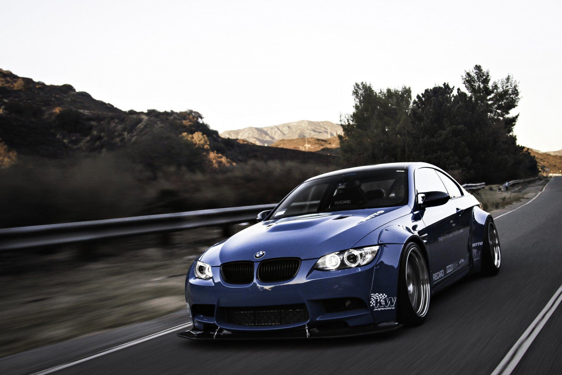 Обои Облака, синий, blue, Bmw, M3, задок. Автомобили foto 19