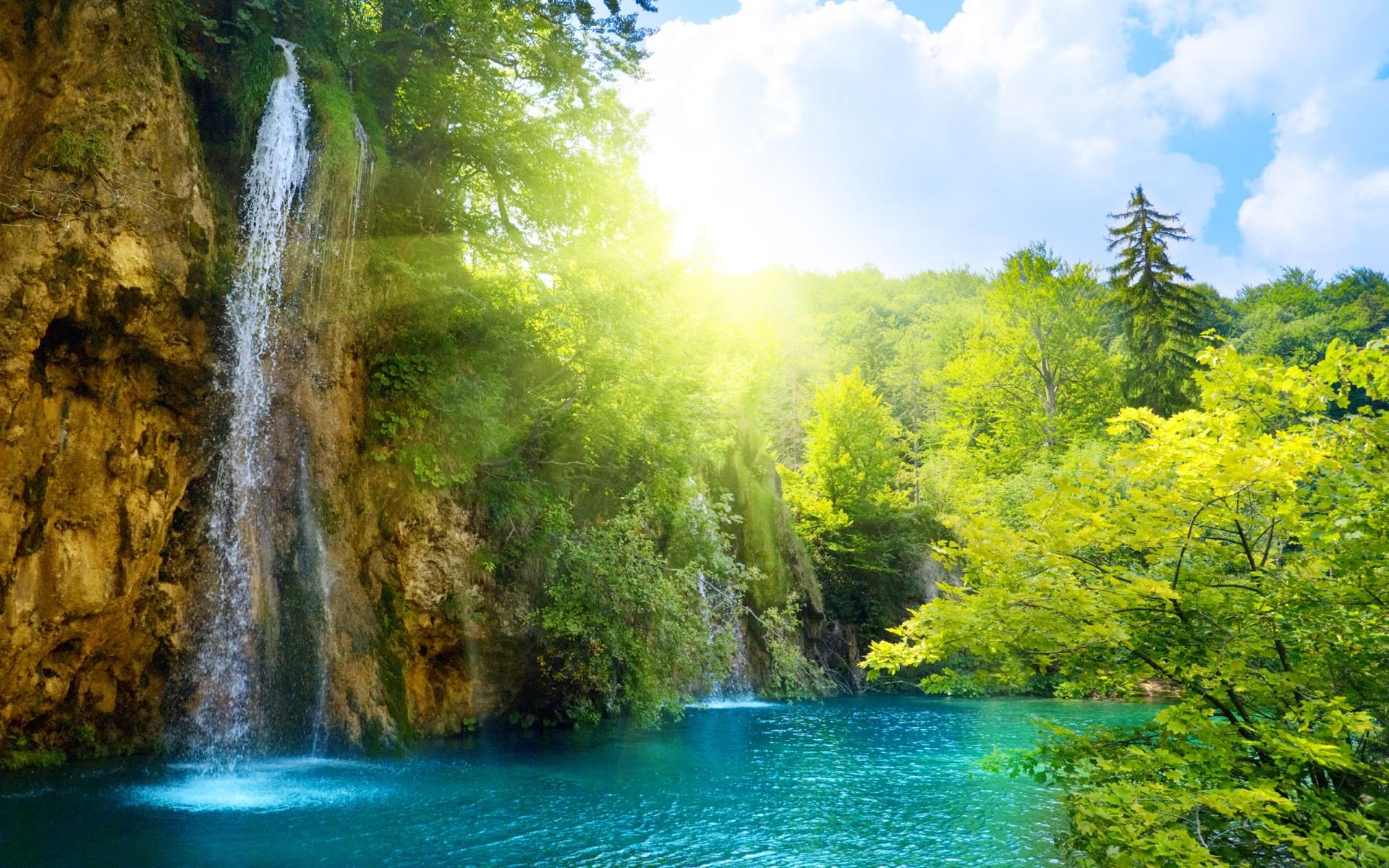 Открытка с пейзажем природы, картинки именем нина