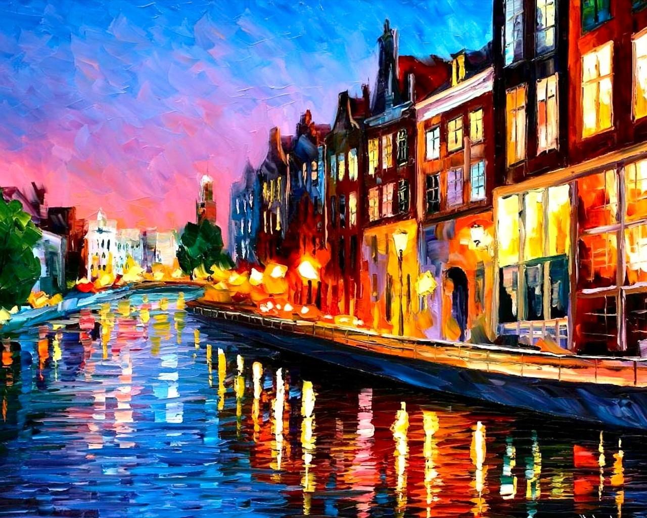 Картинки, картинки на холсте акриловыми красками