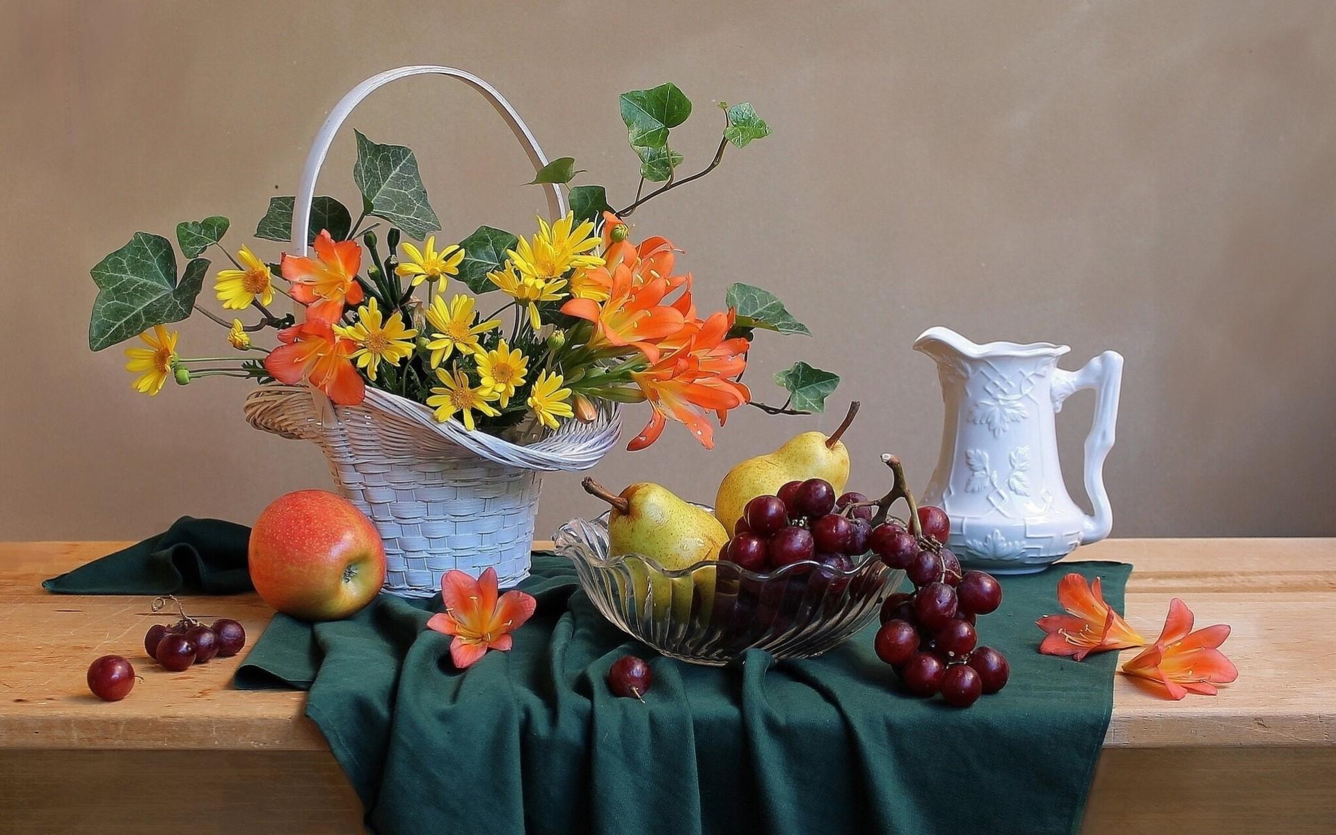Открытки, цветы и фрукты открытки