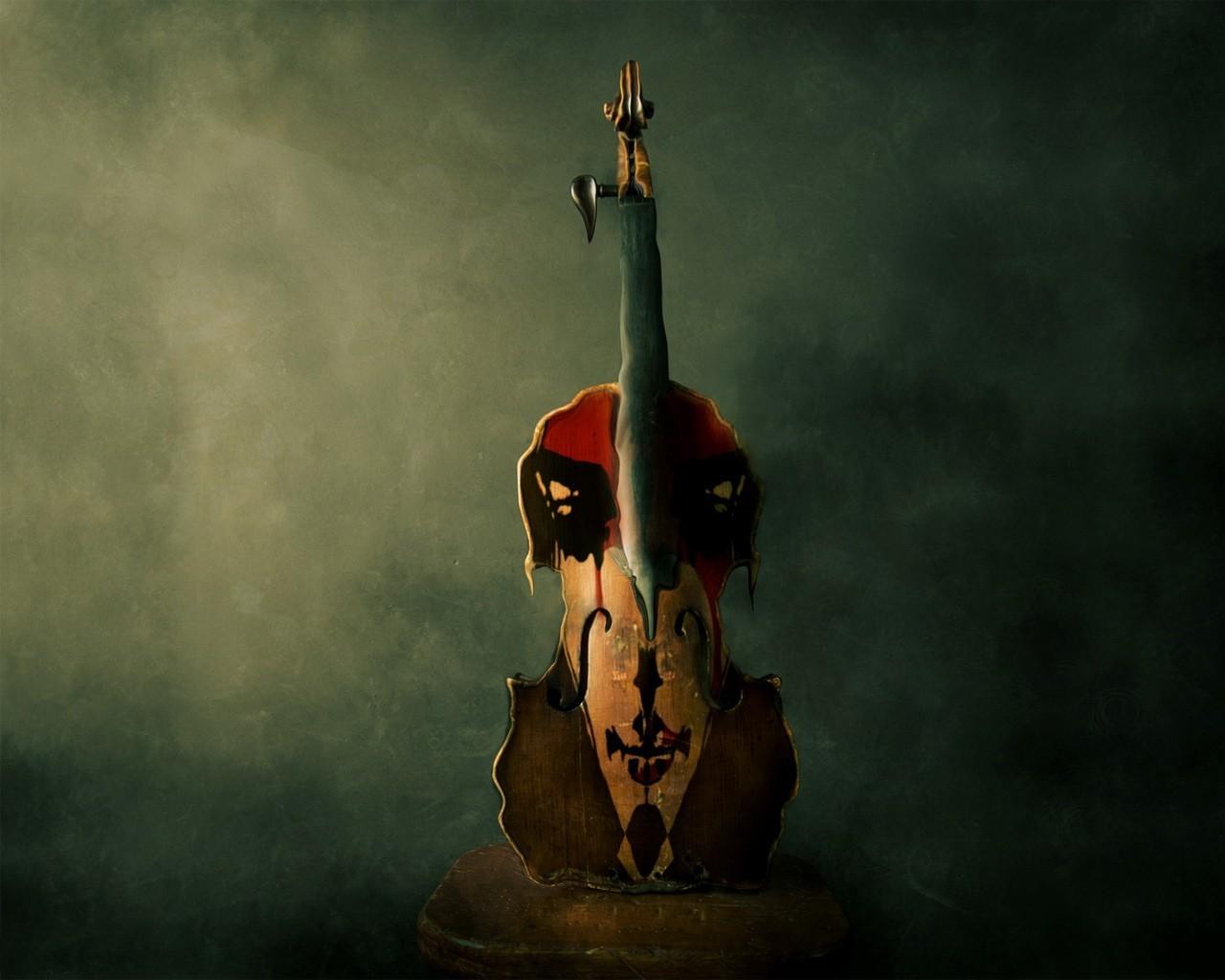 Девушка со скрипкой абстракция  № 2052368 загрузить