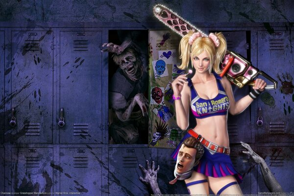 lollipop chainsaw зомби