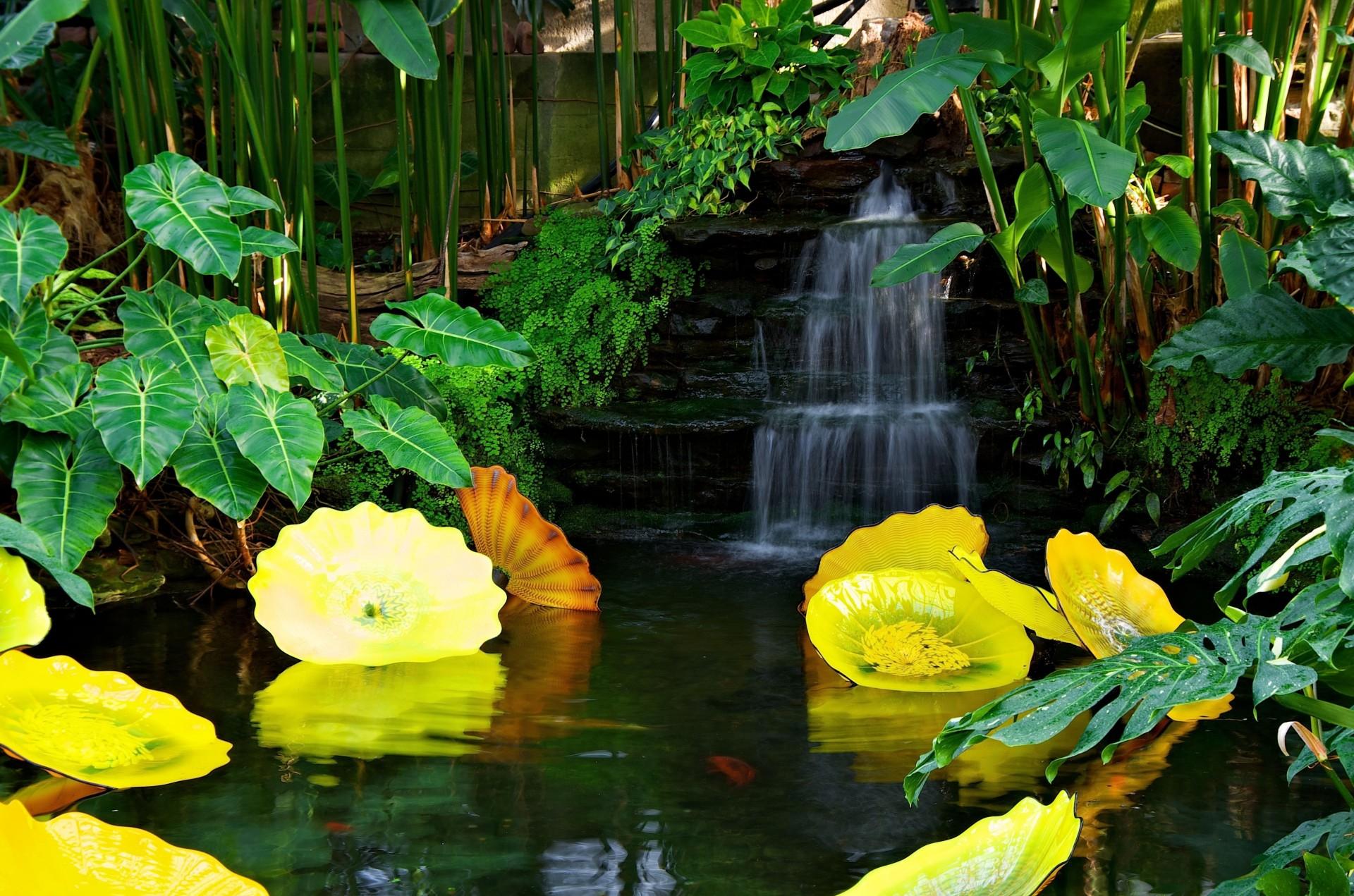 водопад водоем waterfall the pond  № 736675 без смс