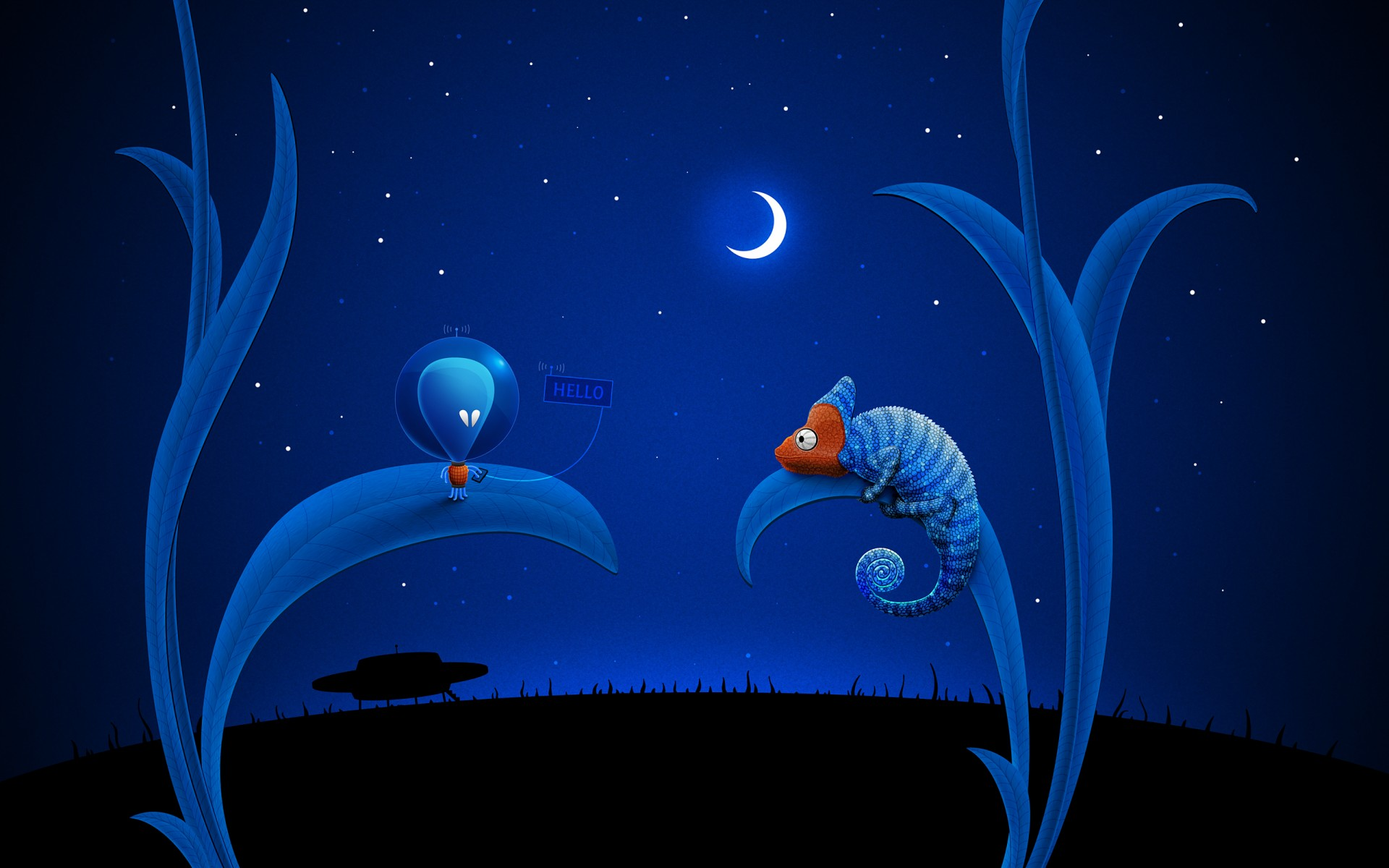 Прикольные ночные картинки