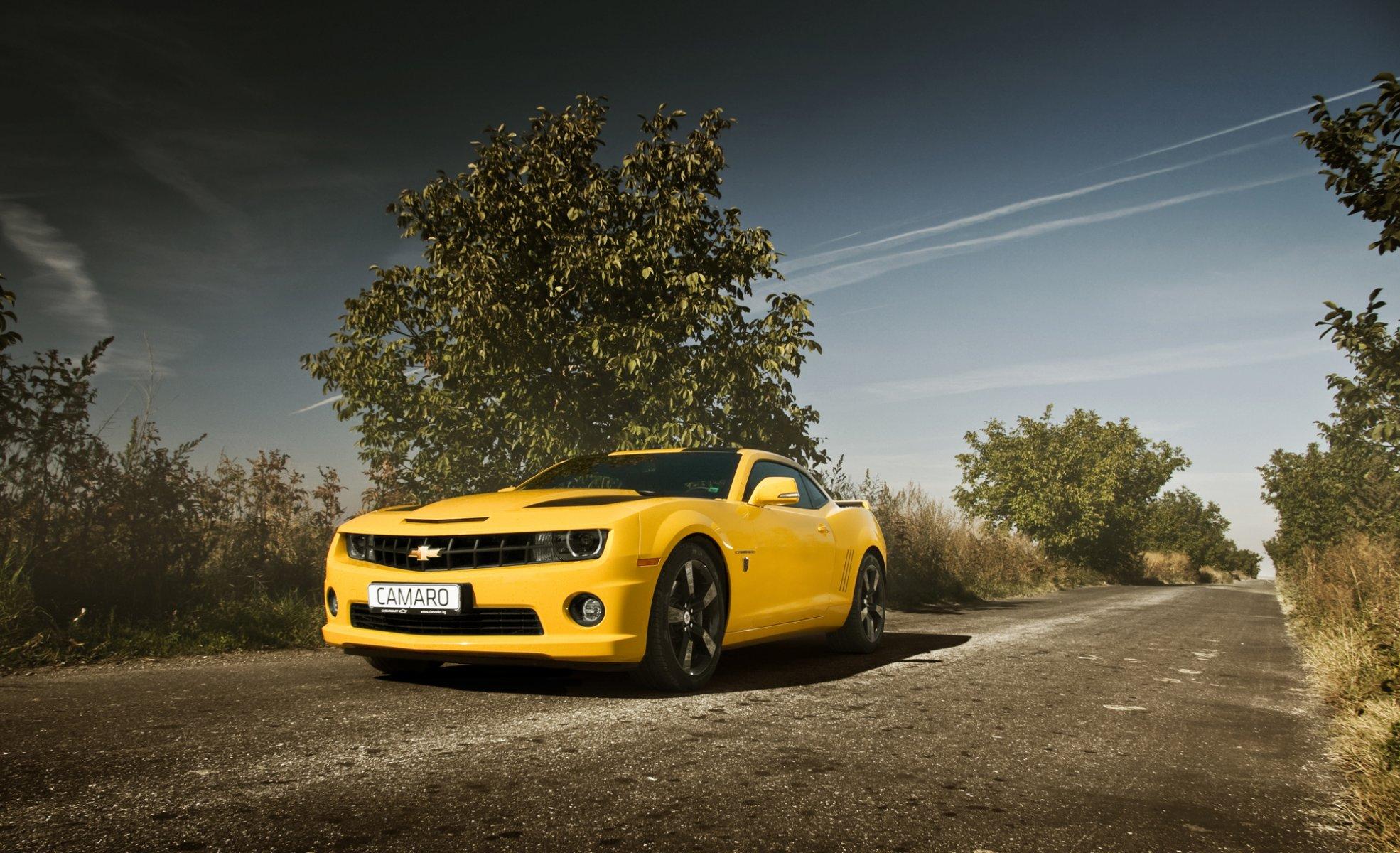 Chevrolet Camaro дорога асфальт без смс