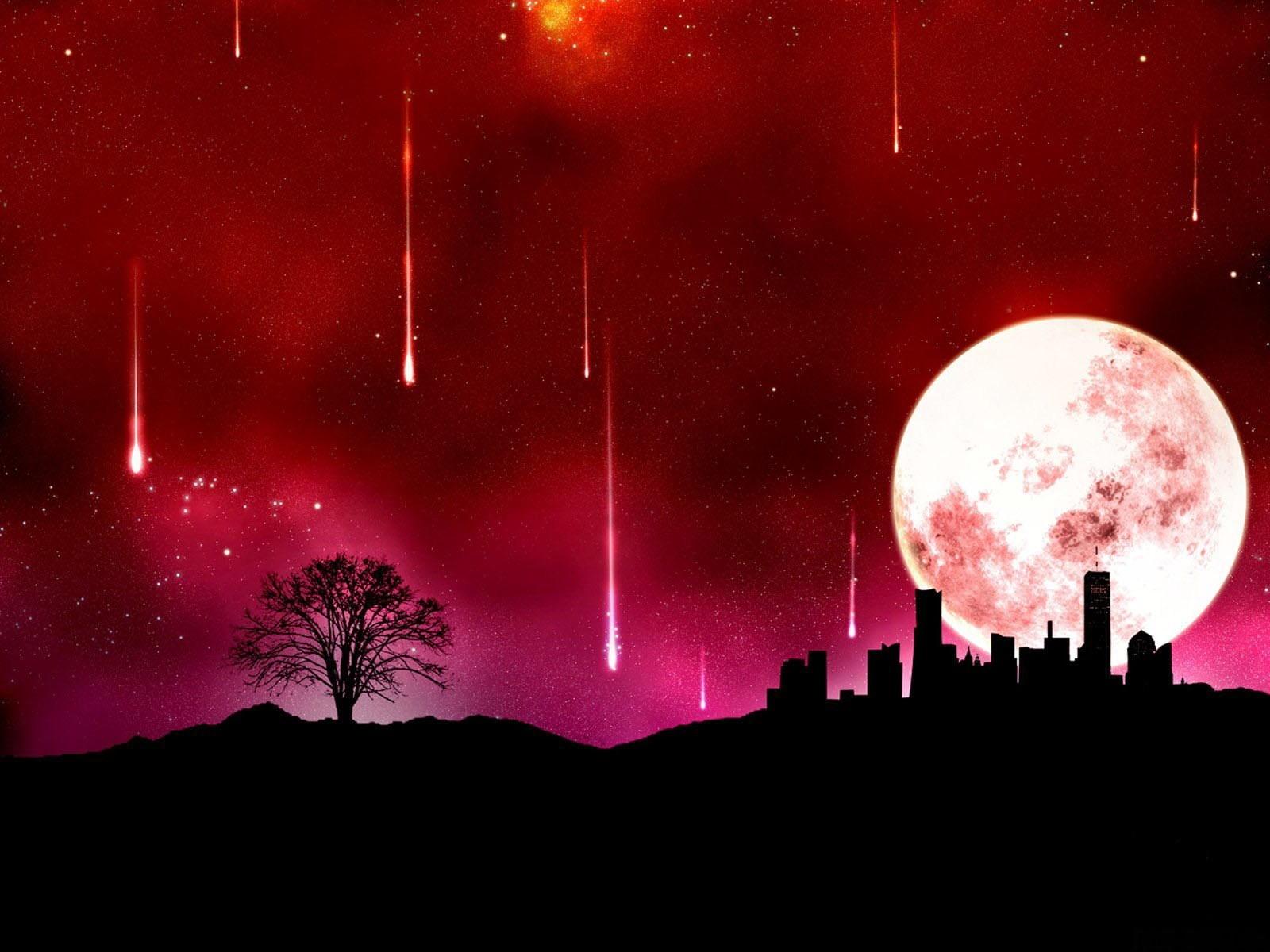 падающая звезда луна ночь небо без смс