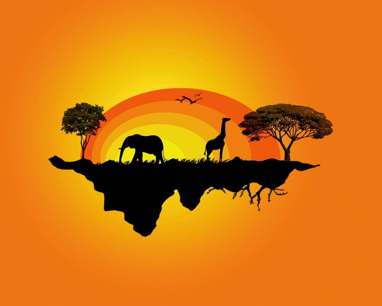 Поздравления, картинки африки с надписью