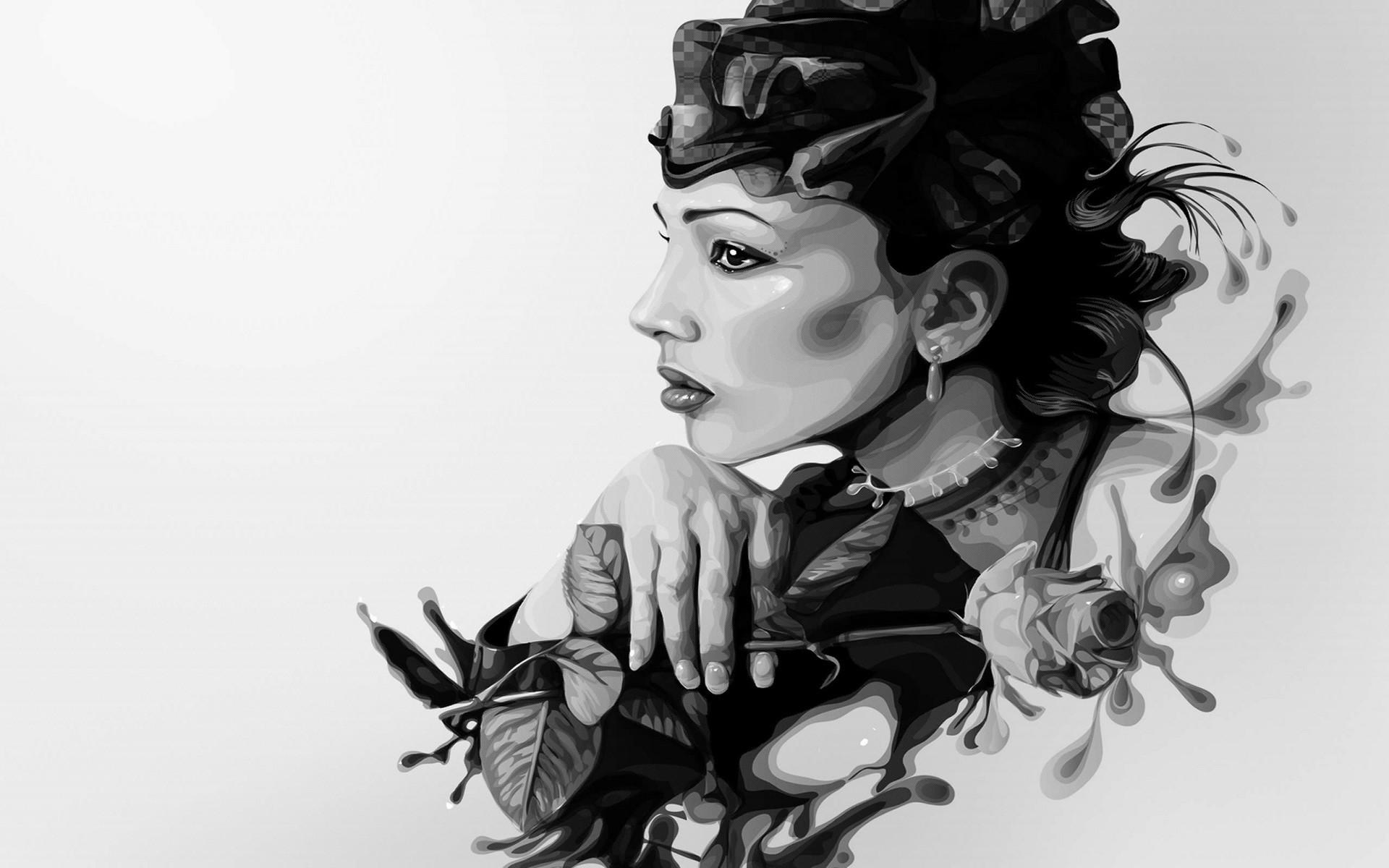 Черно белое фото девушек арт, частное порно фото на унитазе