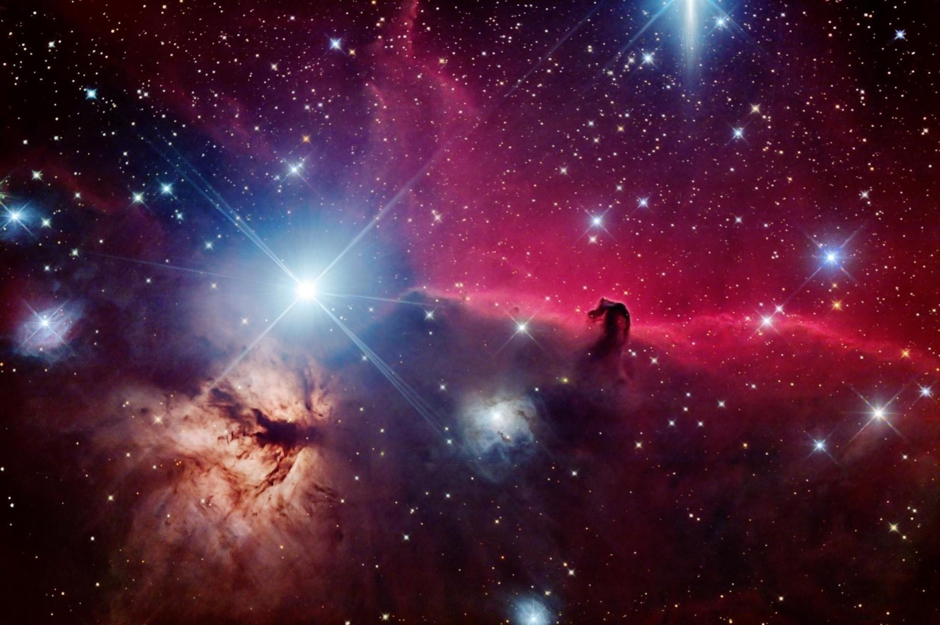 Обои Туманность со звездами картинки на рабочий стол на тему Космос - скачать без смс