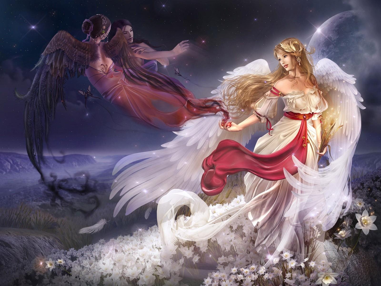 Открытки, красивые картинки с ангелами девушками