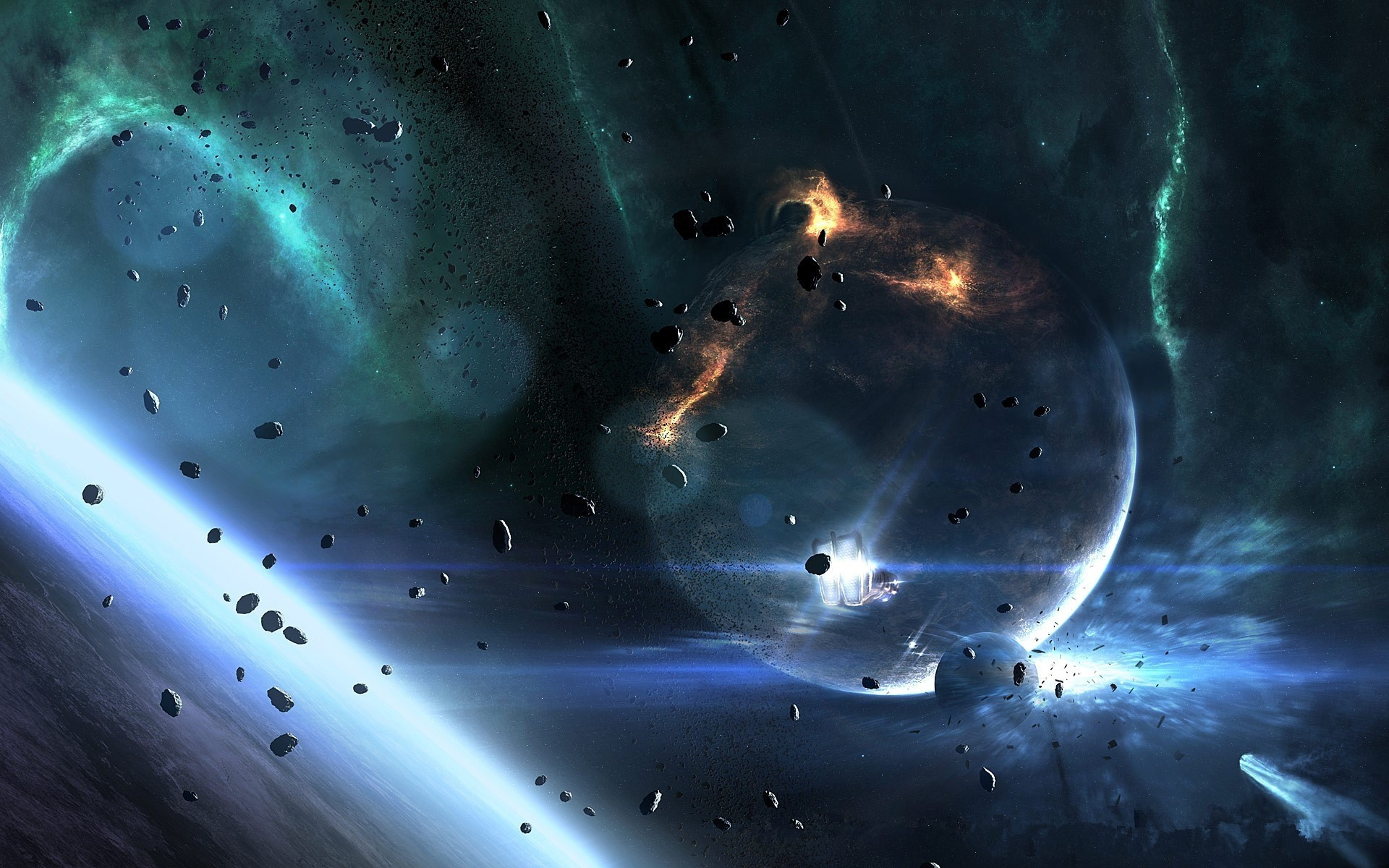 asteroid planet game - HD 1920×1080