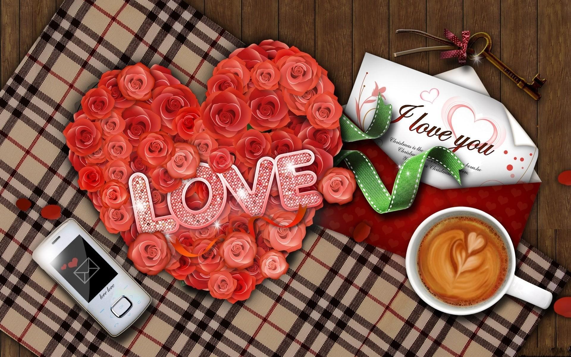 Сердечки картинки красивые розы с надписями