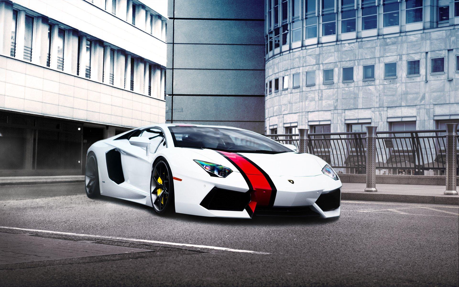 Обои зеленая, Lamborghini miura, здание, вид сбоку. Автомобили foto 8