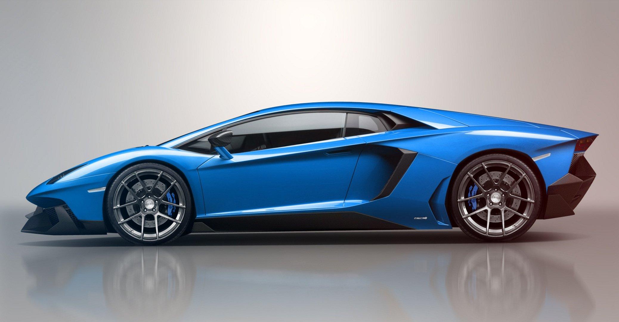 Lamborghini голубая отражение  № 2522847  скачать