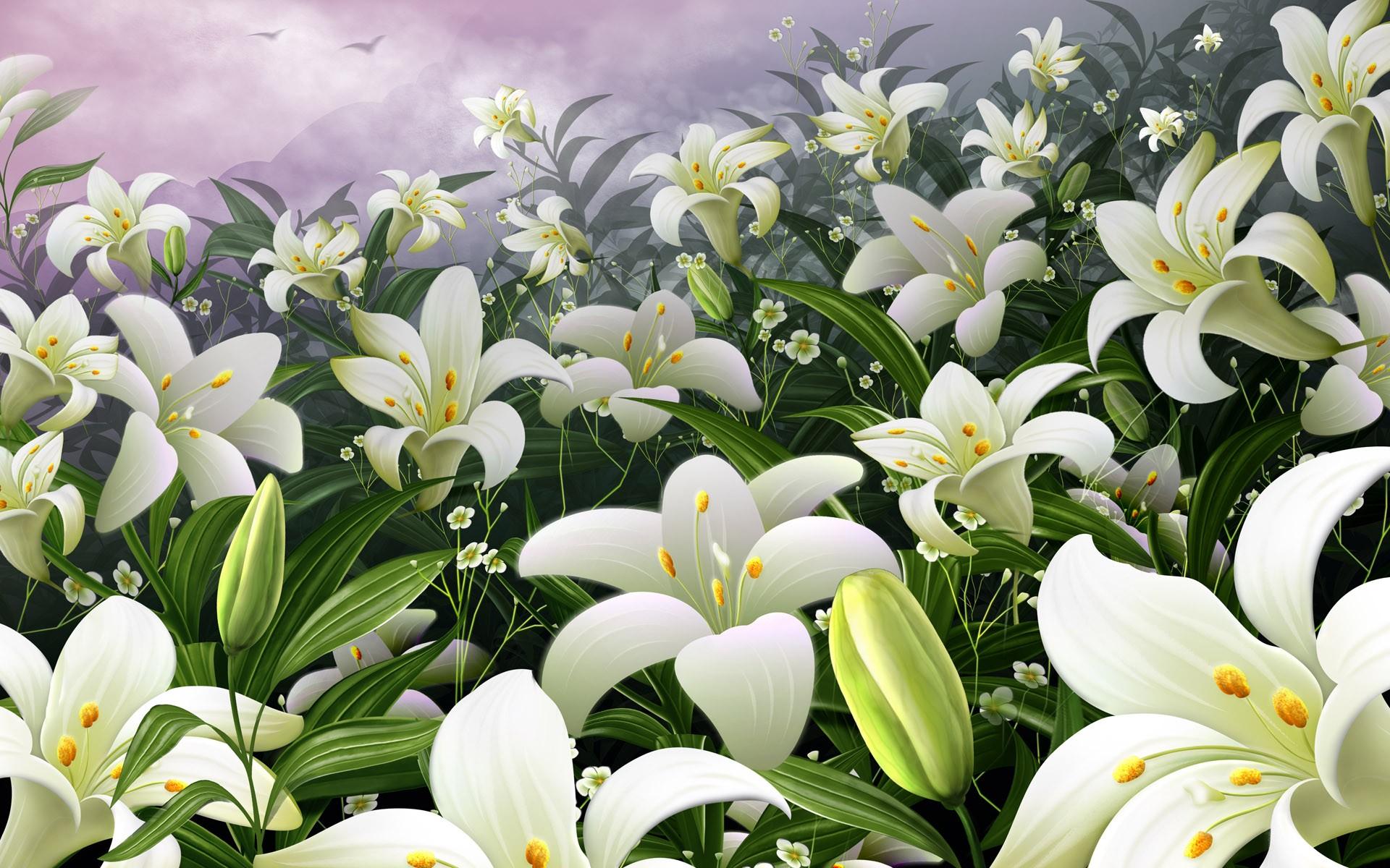 белые или цветы лилии картинки для рабочего стола обои христианский крест