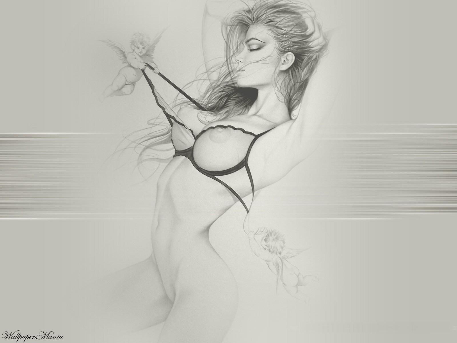 Рисуем голую девку, Как нарисовать голую девушку поэтапно? 23 фотография