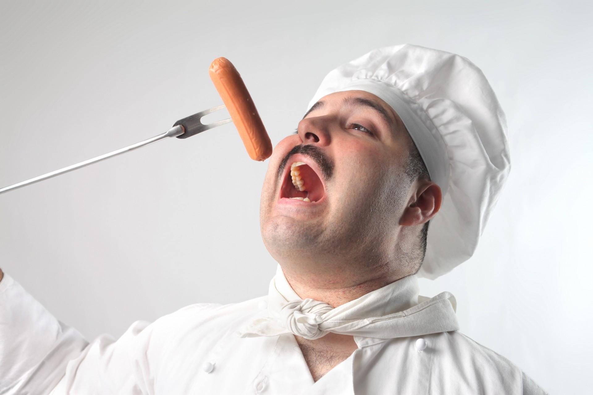 Анимация дню, смешная картинка повар