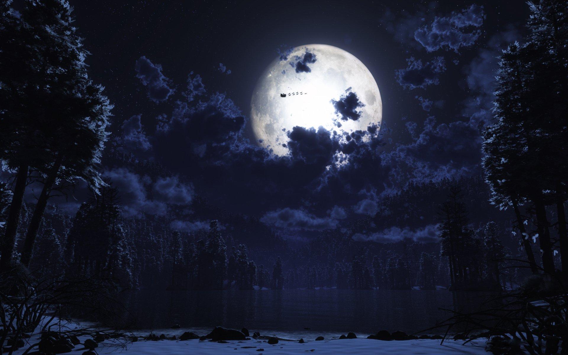 картинки луны ночью в хорошем качестве том