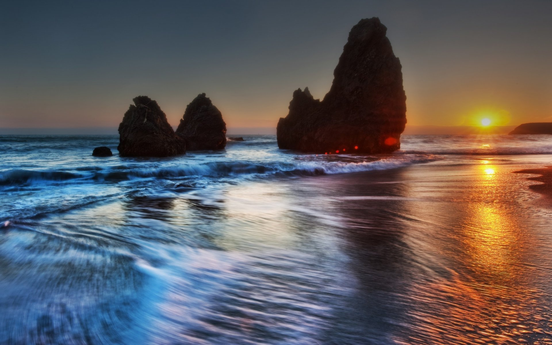 вечерний пейзаж на море картинки себя как