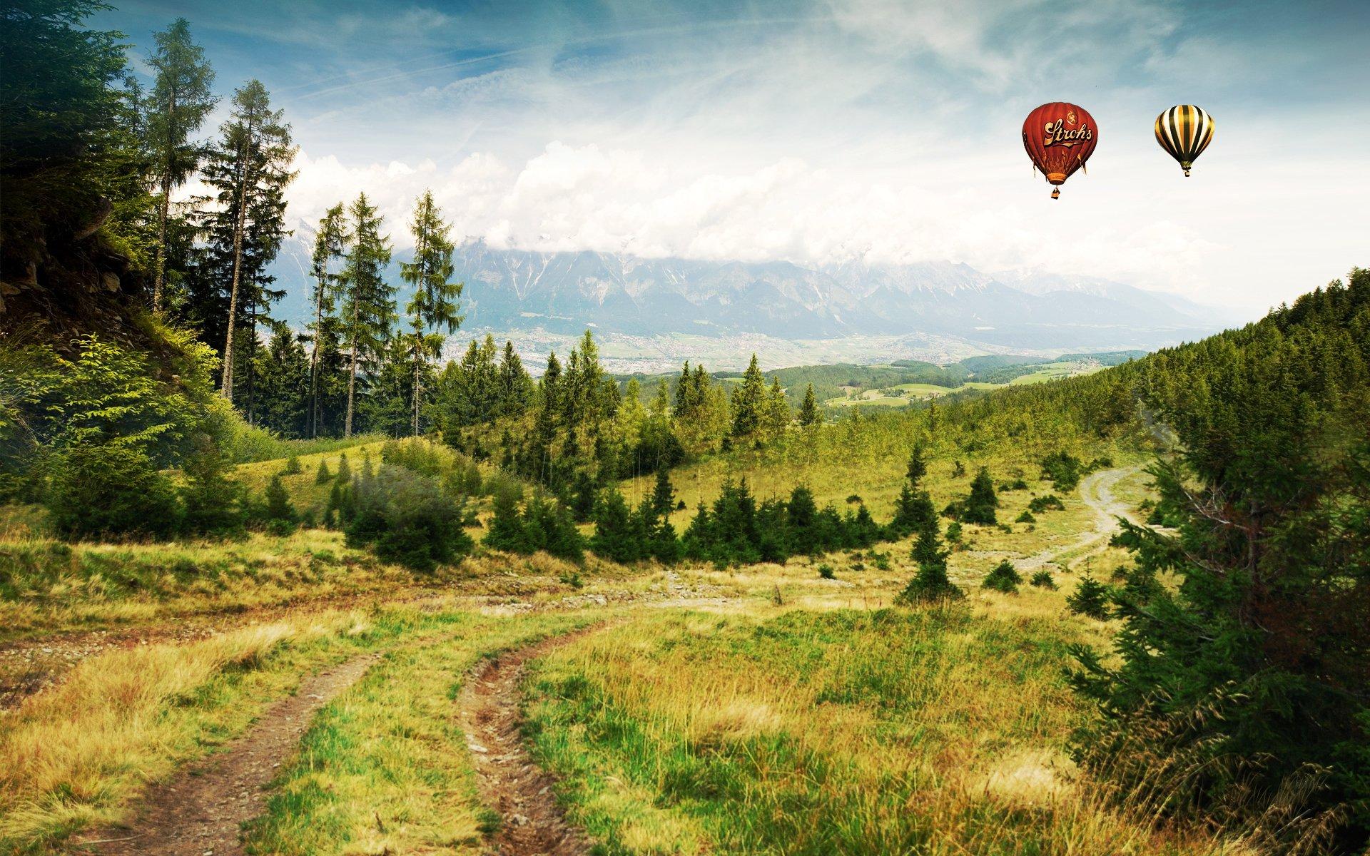 природа горы воздушный шар загрузить