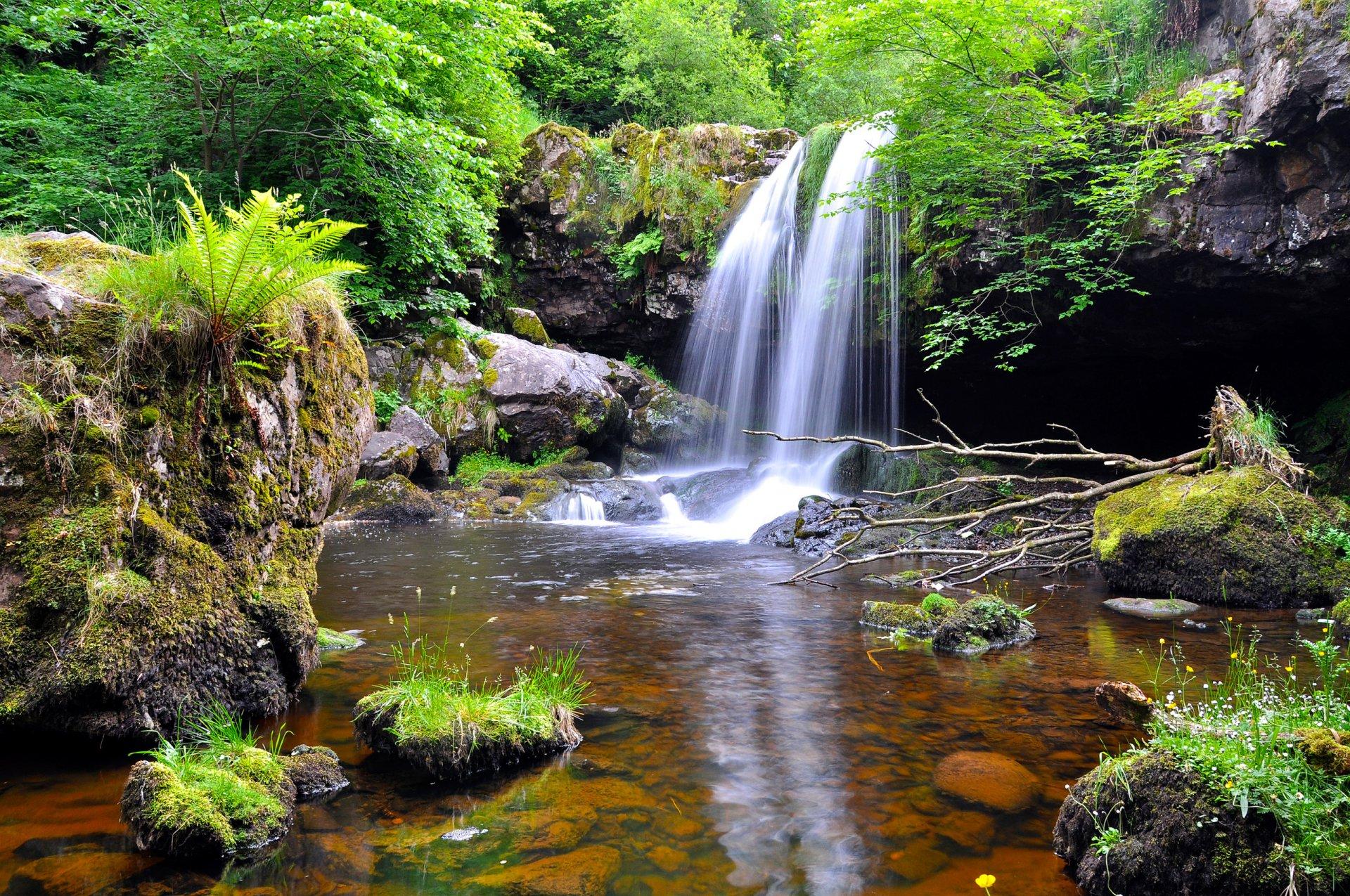 картинки водоемов с водопадом подражания