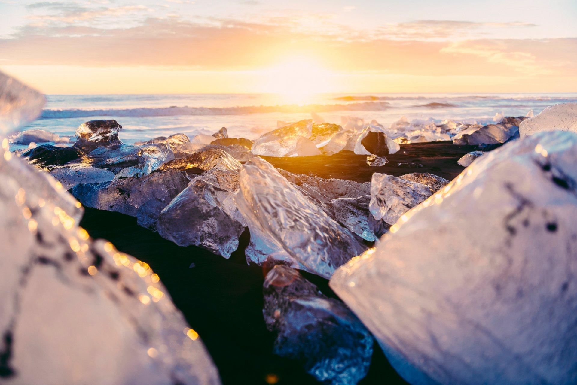 Обои ледниковая лагуна йёкюльсаурлоун, Исландия. Природа foto 16