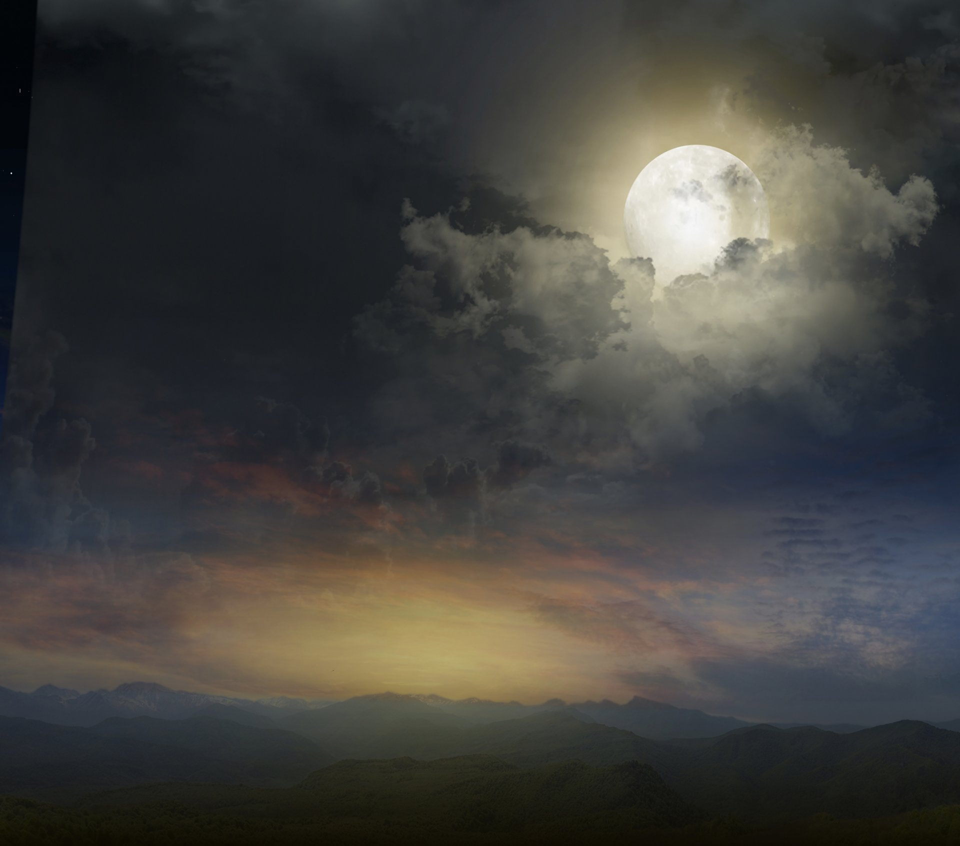 Обои Облака, ночь. Природа foto 18