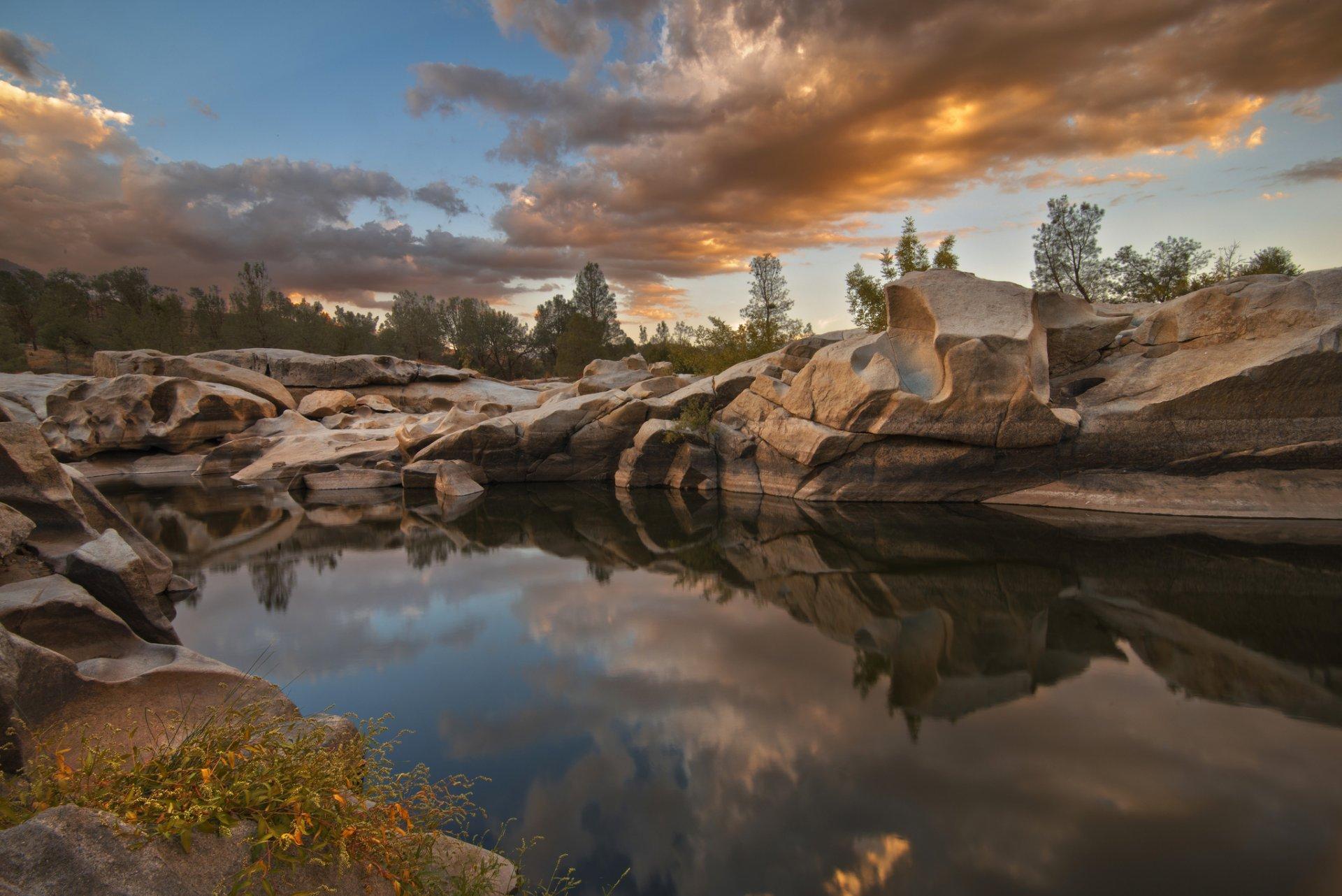 камни озеро сумерки скачать
