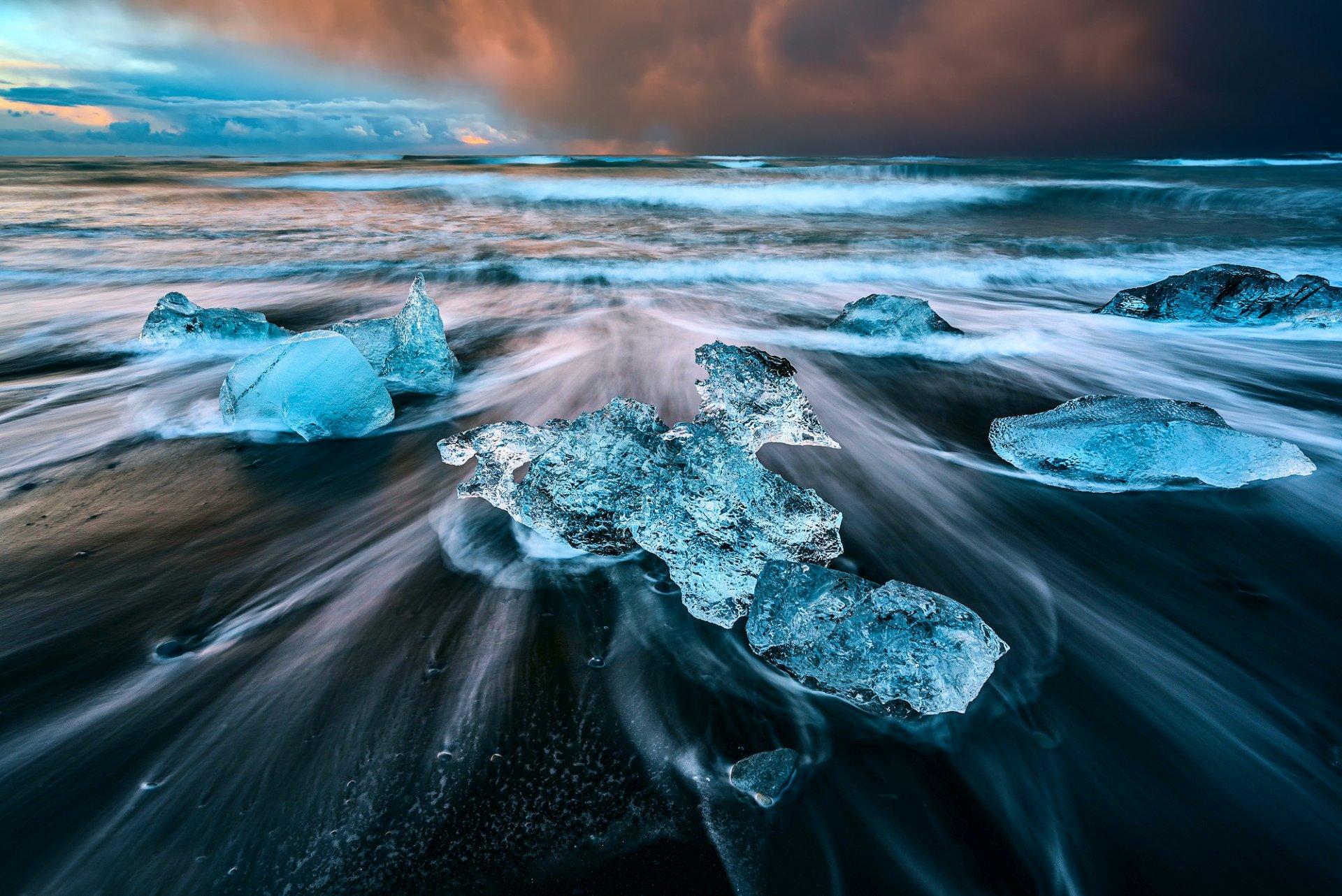 Обои ледниковая лагуна йёкюльсаурлоун, Исландия. Природа foto 6