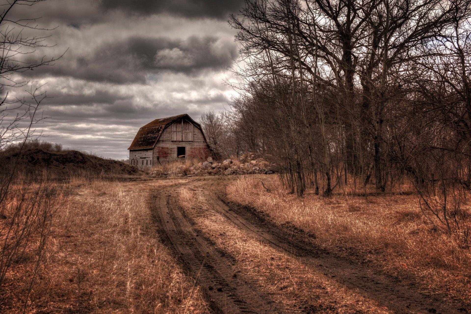 горы сарай осень mountains the barn autumn  № 387050  скачать