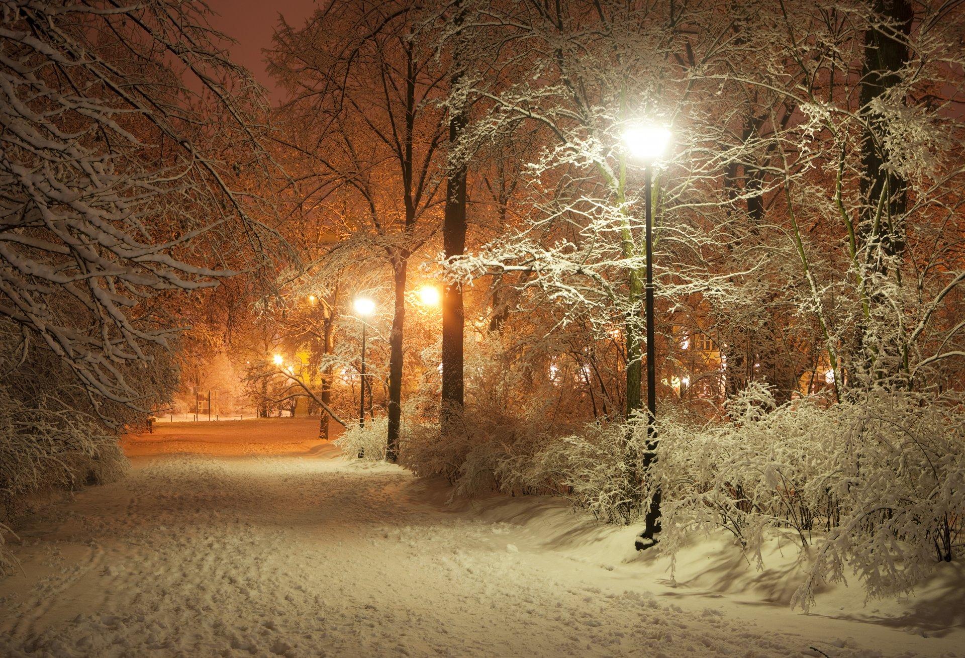 дорога зима вечер снег  № 3902632 бесплатно